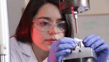 Marysol Luna in the lab