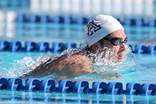 Tyler Fowler competing in a University of Arizona swim meet